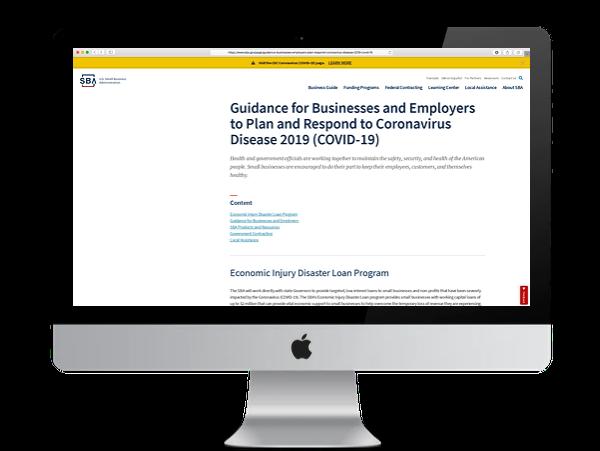 SBA Business Employers Guidance for Response to Coronavirus