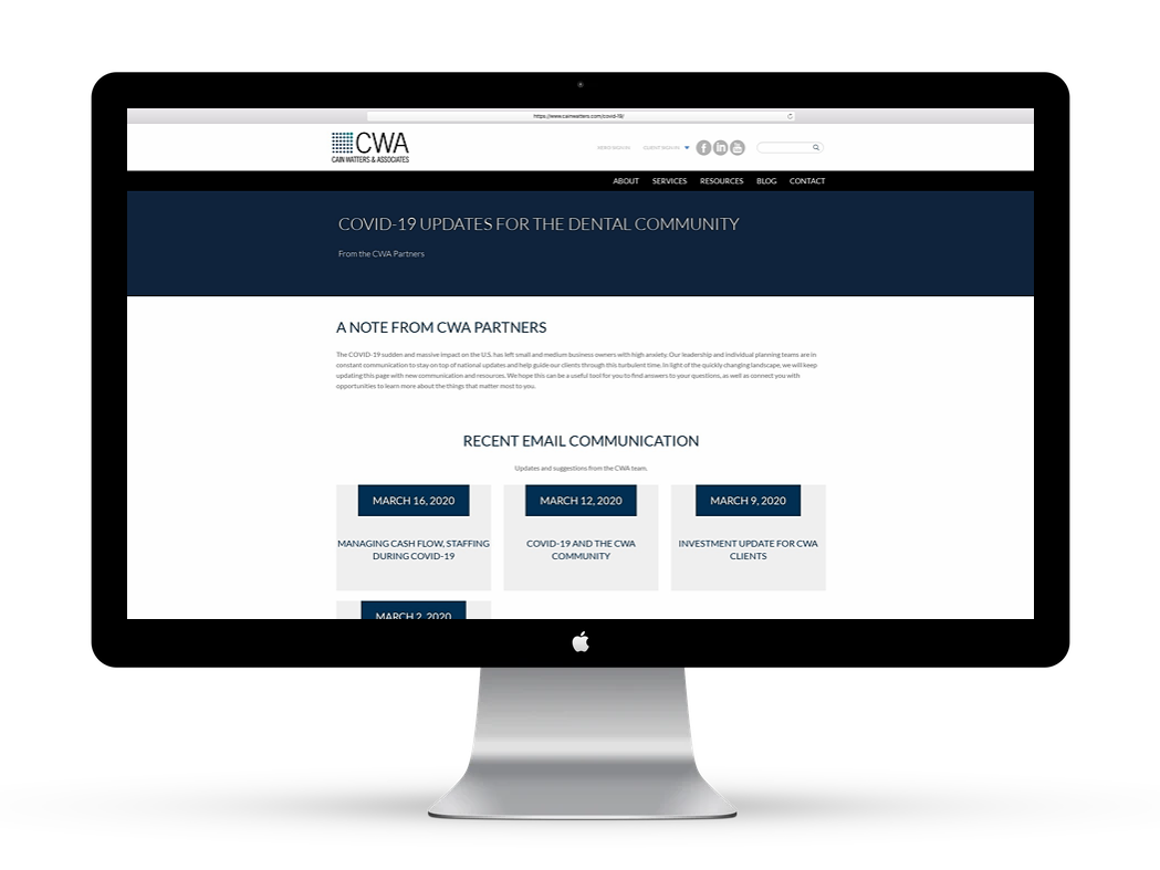 Cain Watters & Associates COVID-19 Updates for Employers